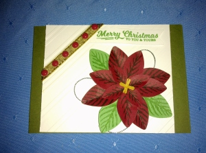 Poinsettia Punch and diagonal embossing folder