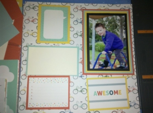 Layout for a scrapbook page.